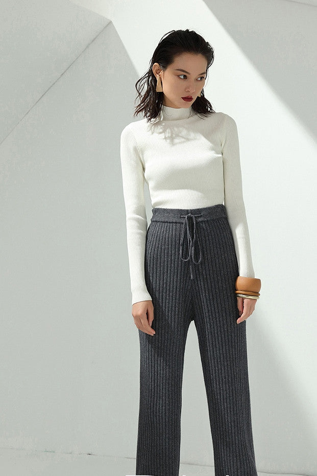 High Neck Knit Shirt