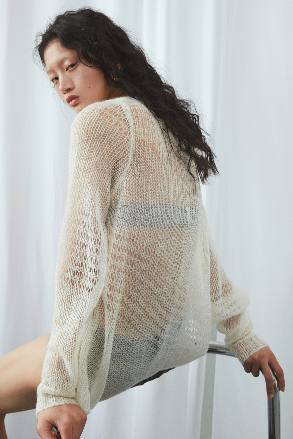 Loose Collar Knit Sweater