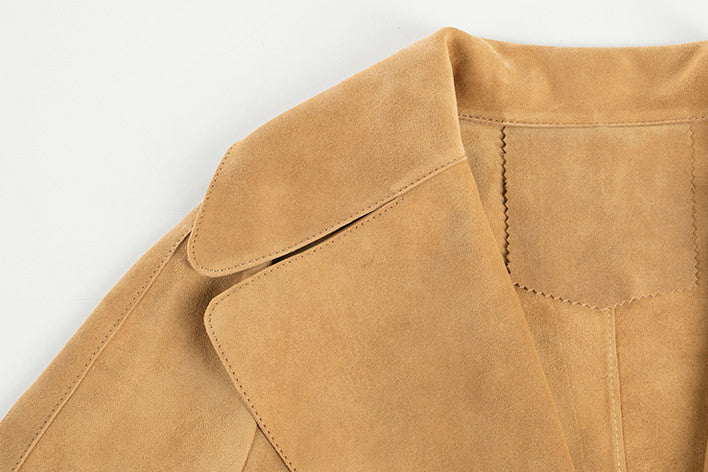 Leather Suede Slim Fit Jacket