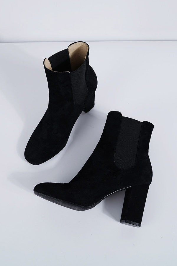 High Heel Suede Boots