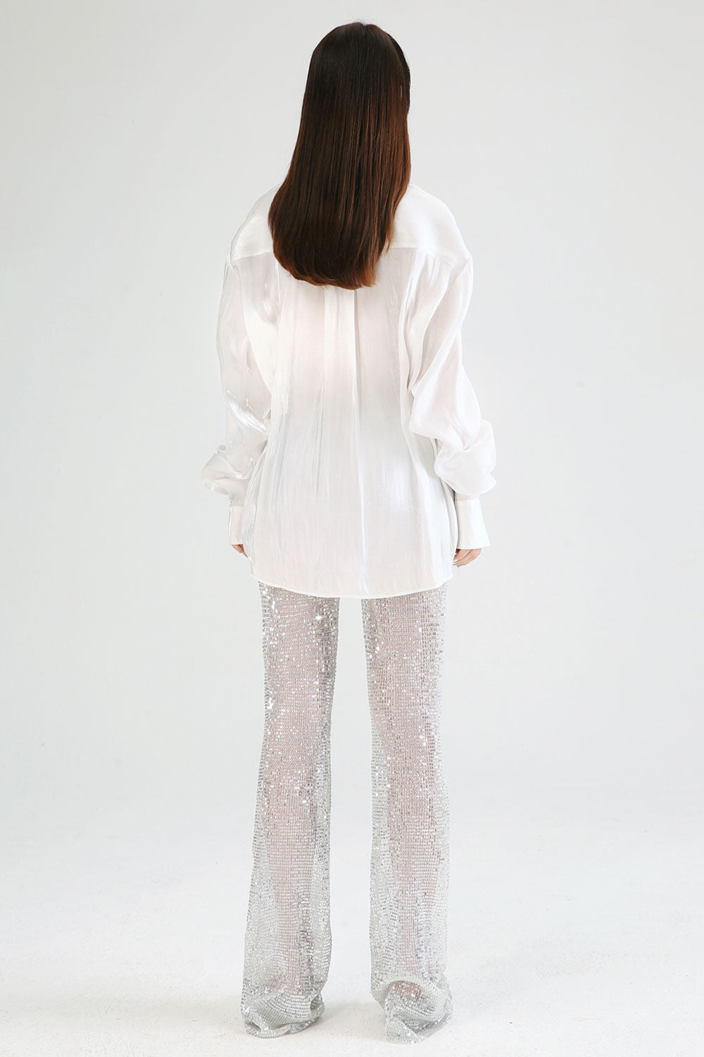 Button Front Sheer Shirt