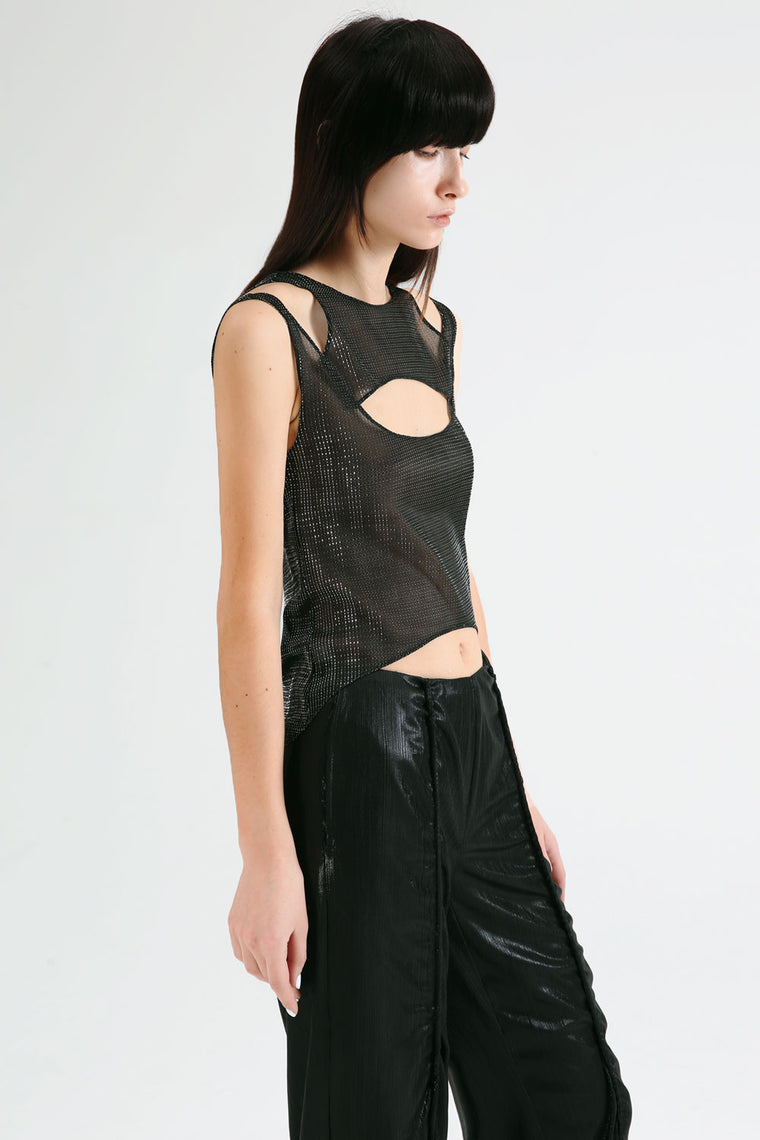 Sheer Cut-Out Top
