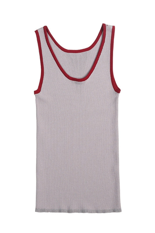 Sleeveless Sporty Tank Top