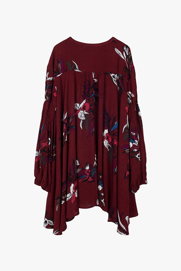 Floral Oversized Mini Dress