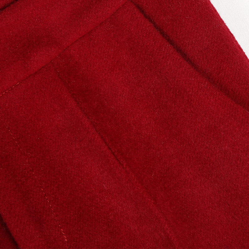 Crop Wool Red Pant
