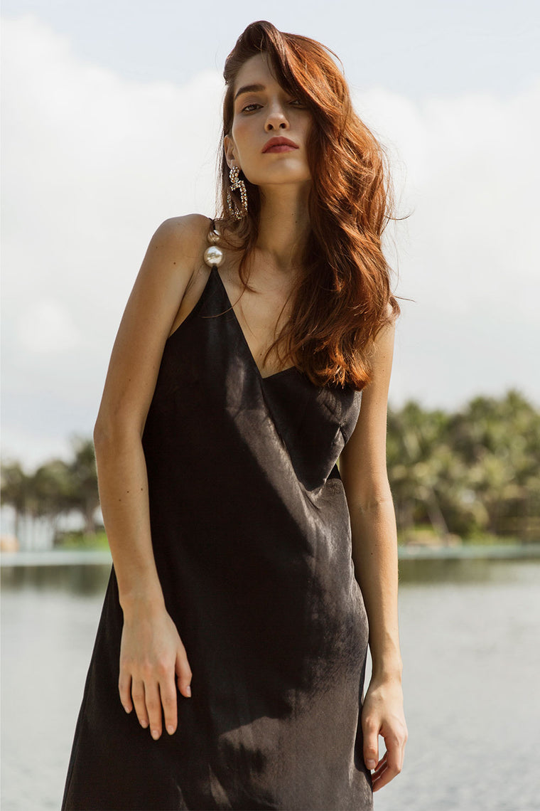 V-Neck Slip Dress