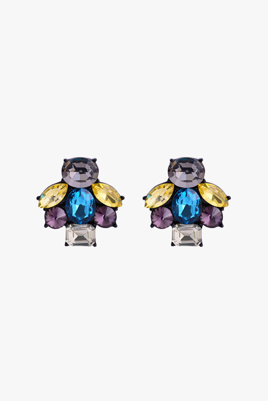 Iridescent Cluster Earrings