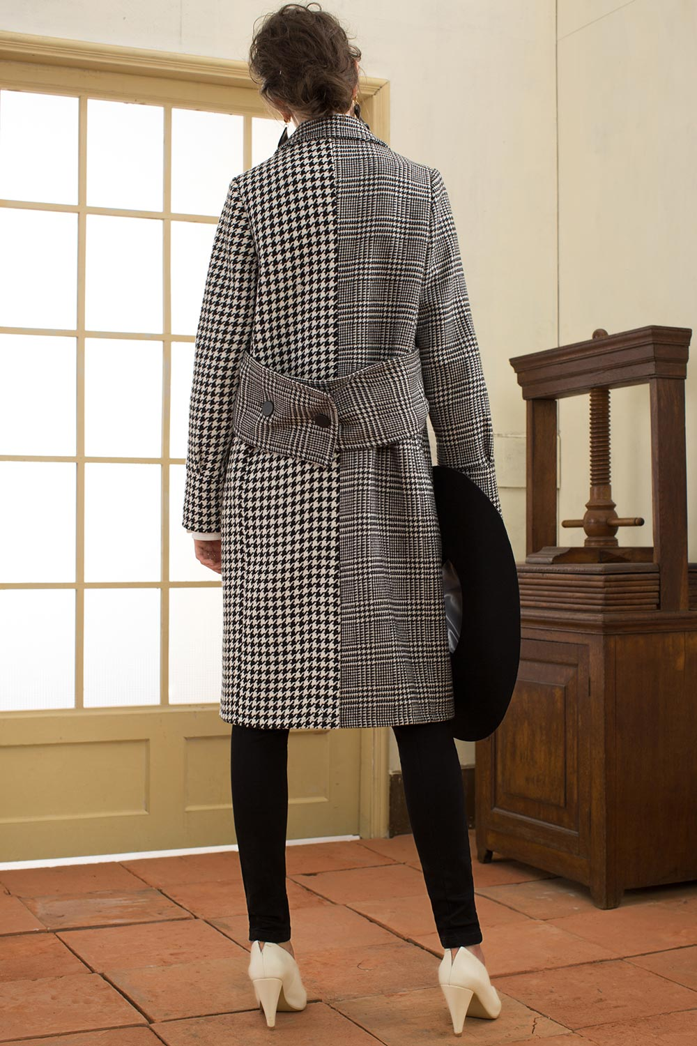 Houndstooth and Checkered Coat