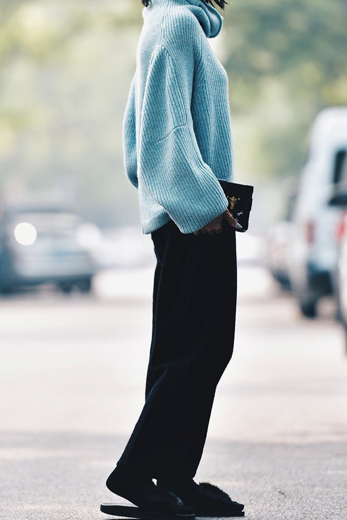 Wool Knit Pants