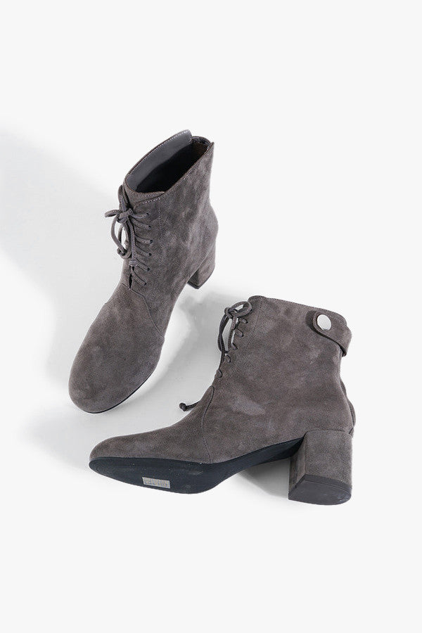 Lace-Up Suede Boots
