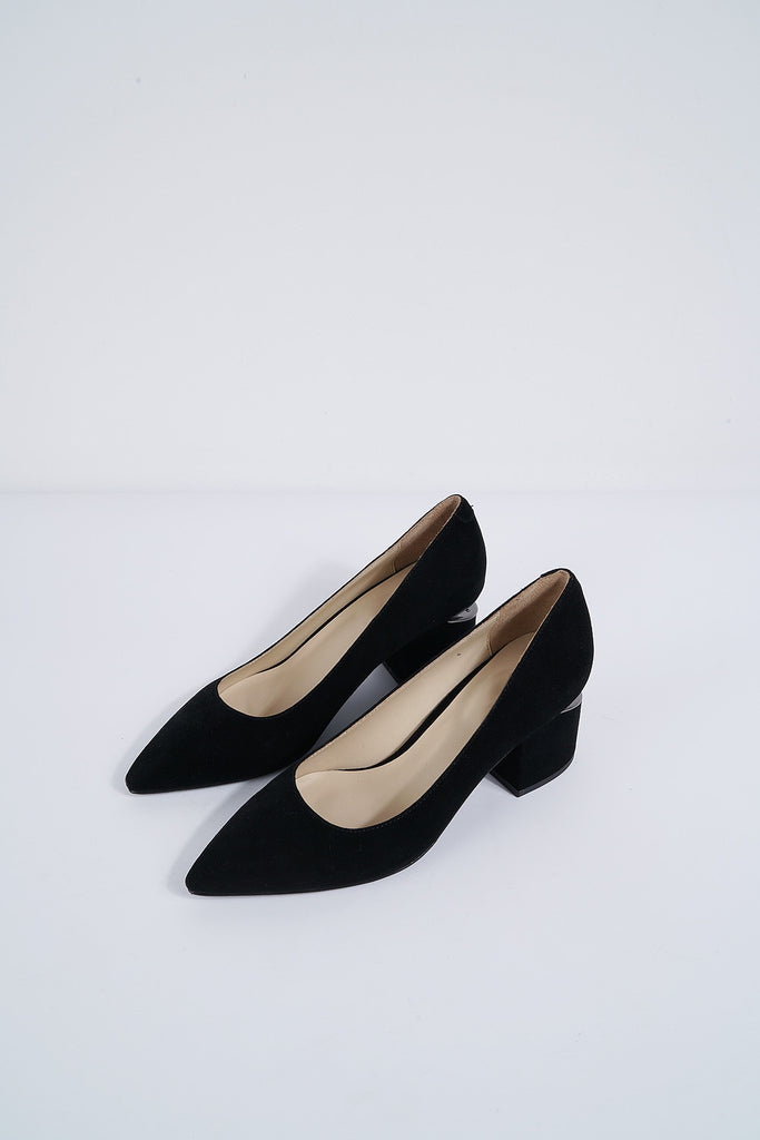 Pointed Suede Pump