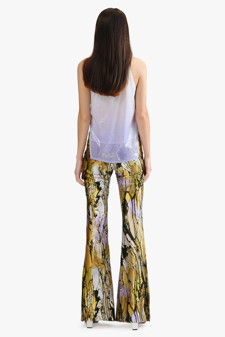 Silk Bell Bottom Pants