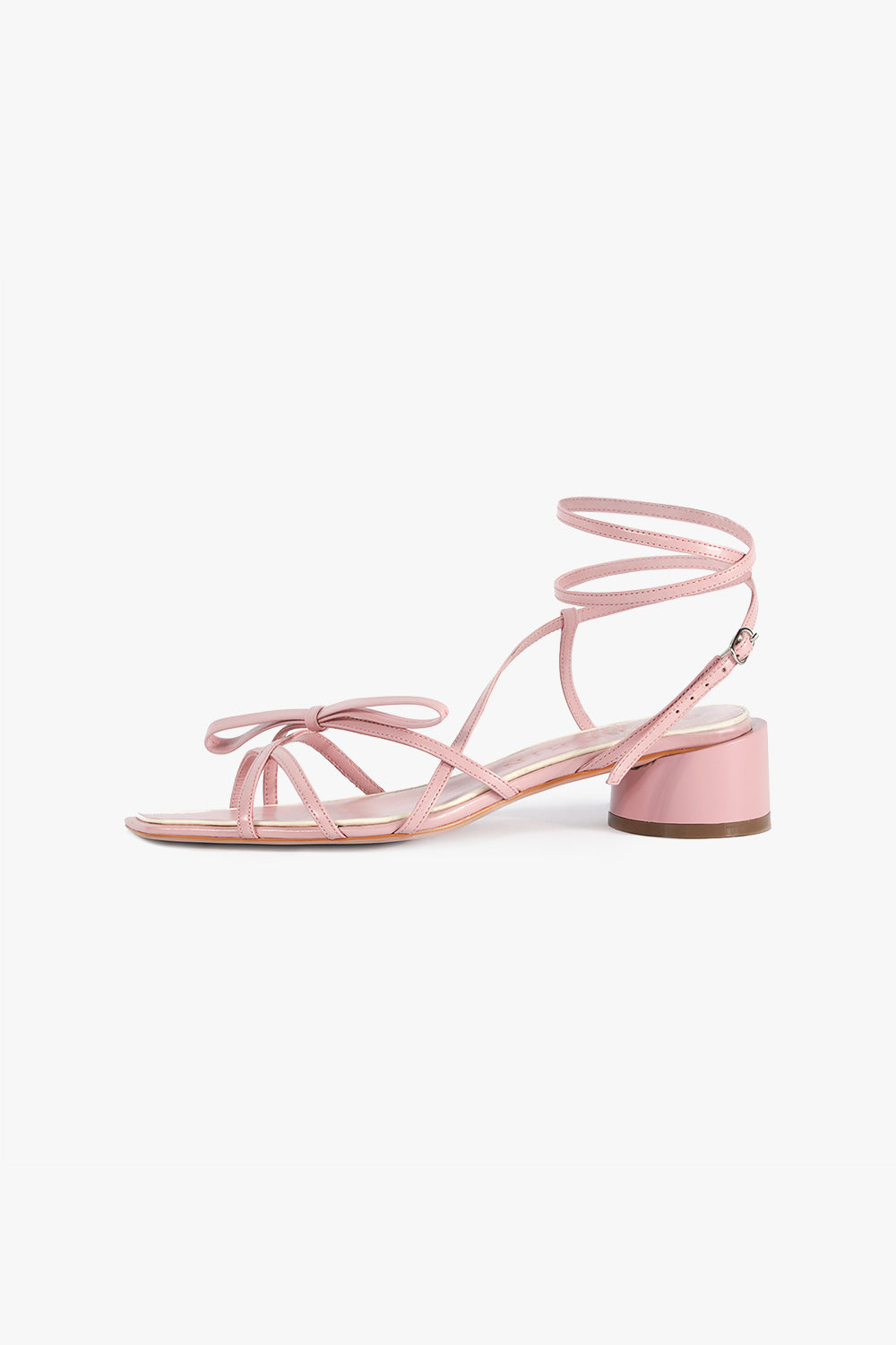 Round Heel Leather Sandals