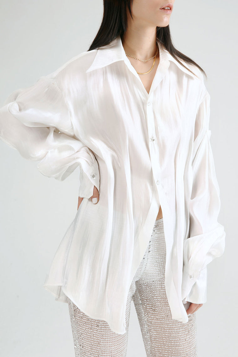 Pleated Loose Shirt