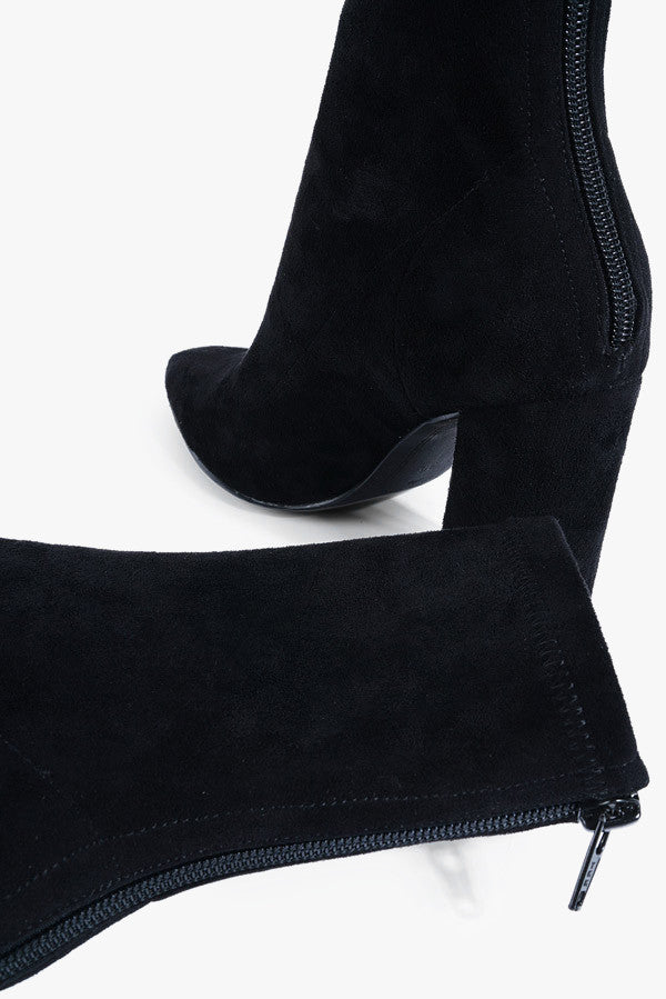 Pointed Suede Boots