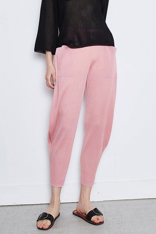 Pleated Crop Pant