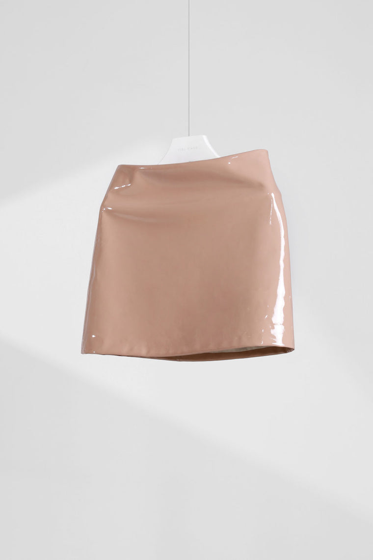 Patent Faux Leather Skirt