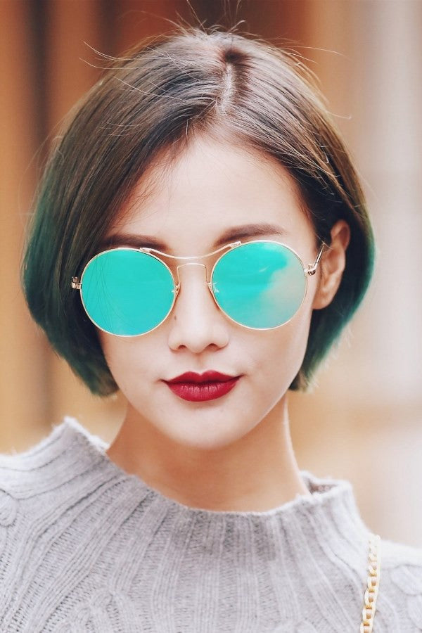 Mirrored Round Color Sunglasses