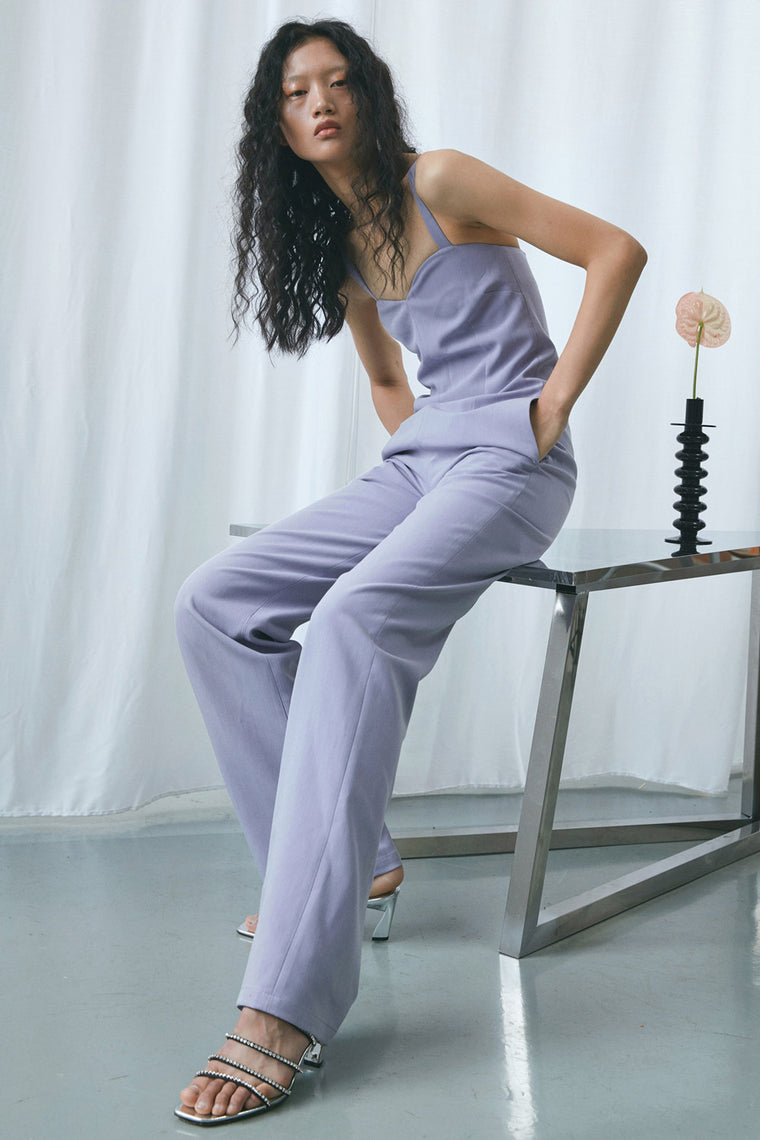 High-Waist Sleeveless Jumpsuit