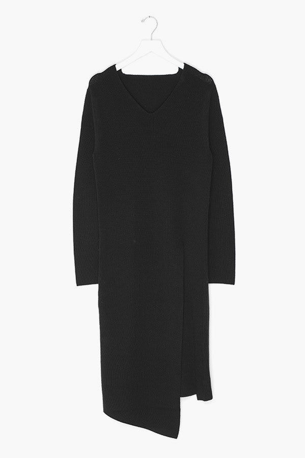 Wool Cashmere High-Slit Sweater