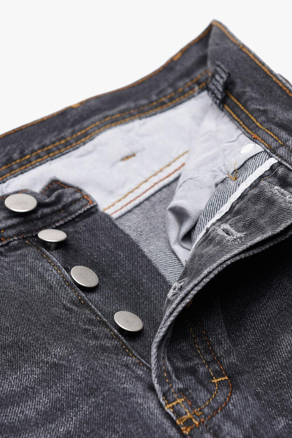 Mid Rise Straight Loose Jeans
