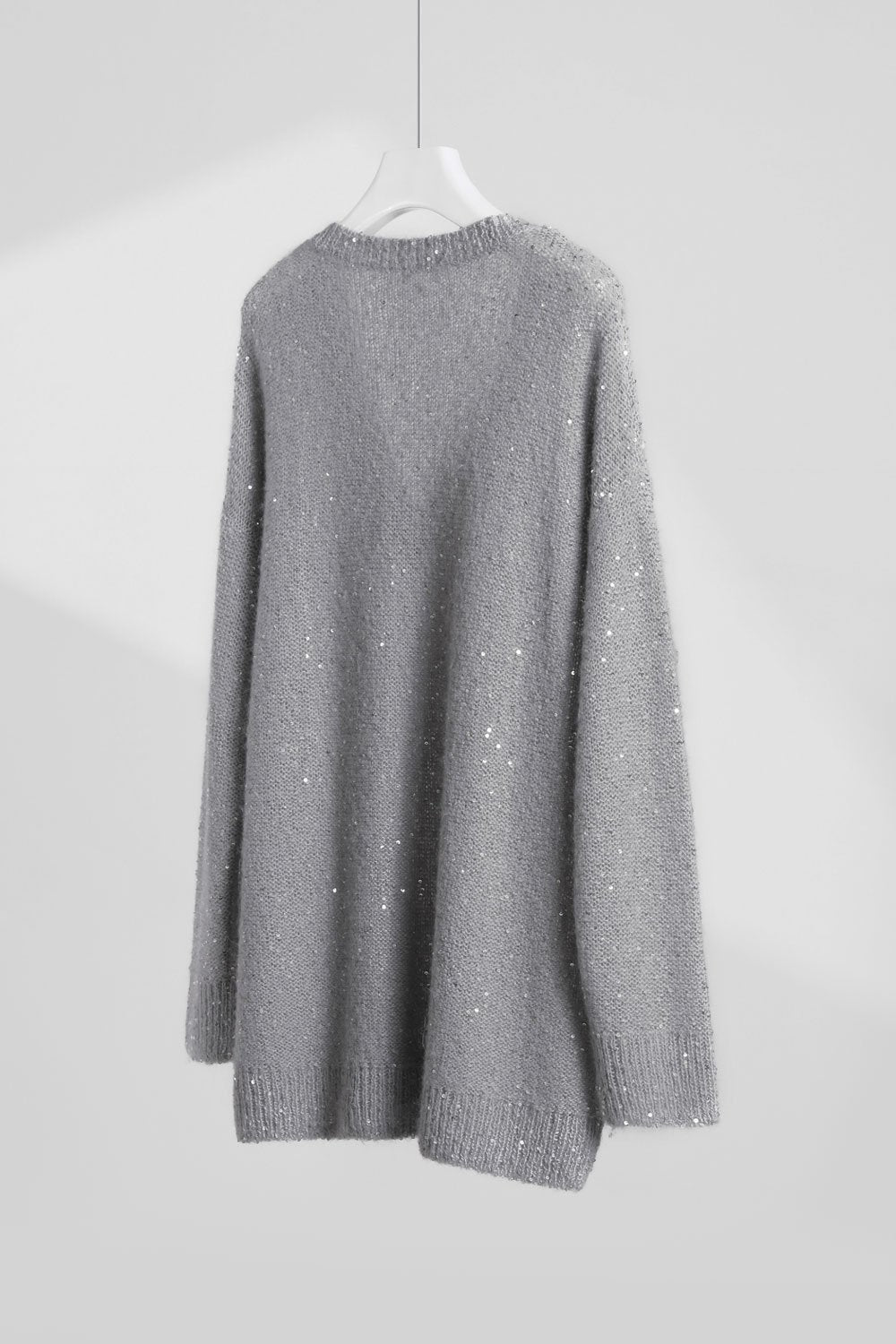 Sequined V-Neck Sweater