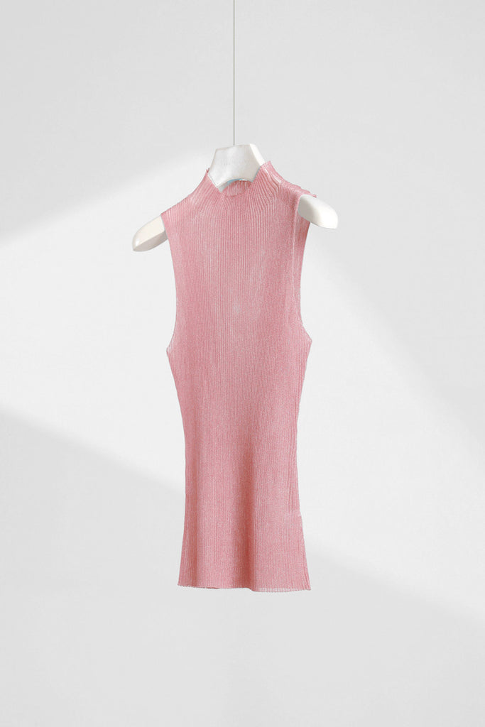 Slim Sleeveless Sheer Top