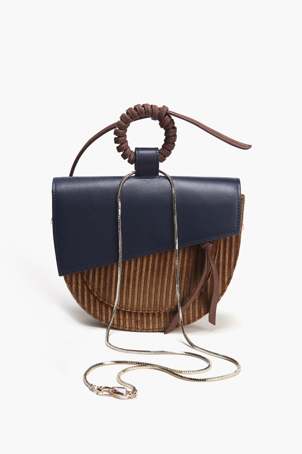 Half Moon Mini Corduroy Bag