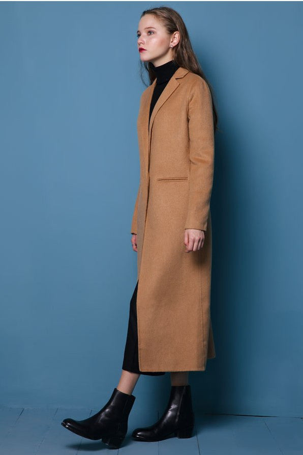 Camel Wool & Cashmere Coat