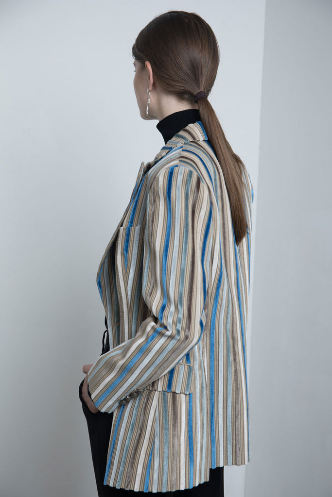 Striped Velvet Jacket