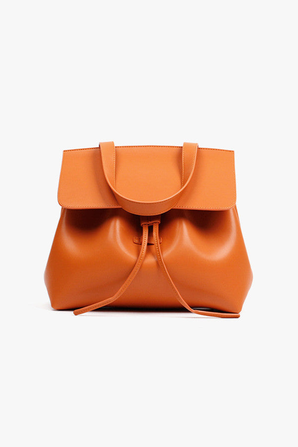Orange Bucket Handbag and Crossbody Bag