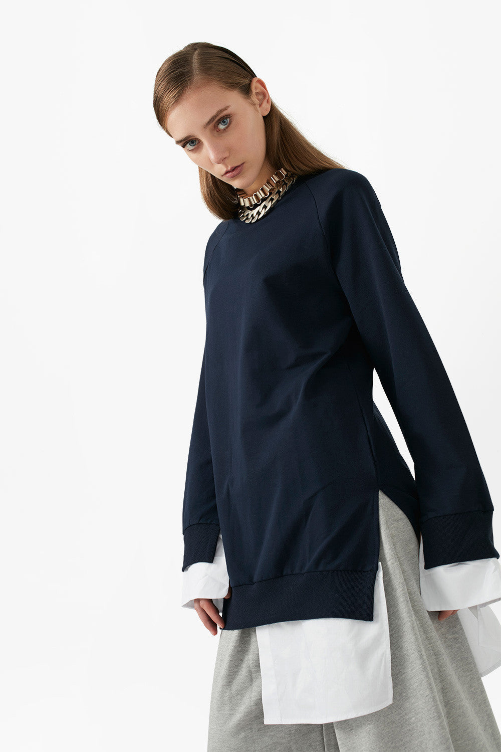 Oversized Pullover Mini Dress