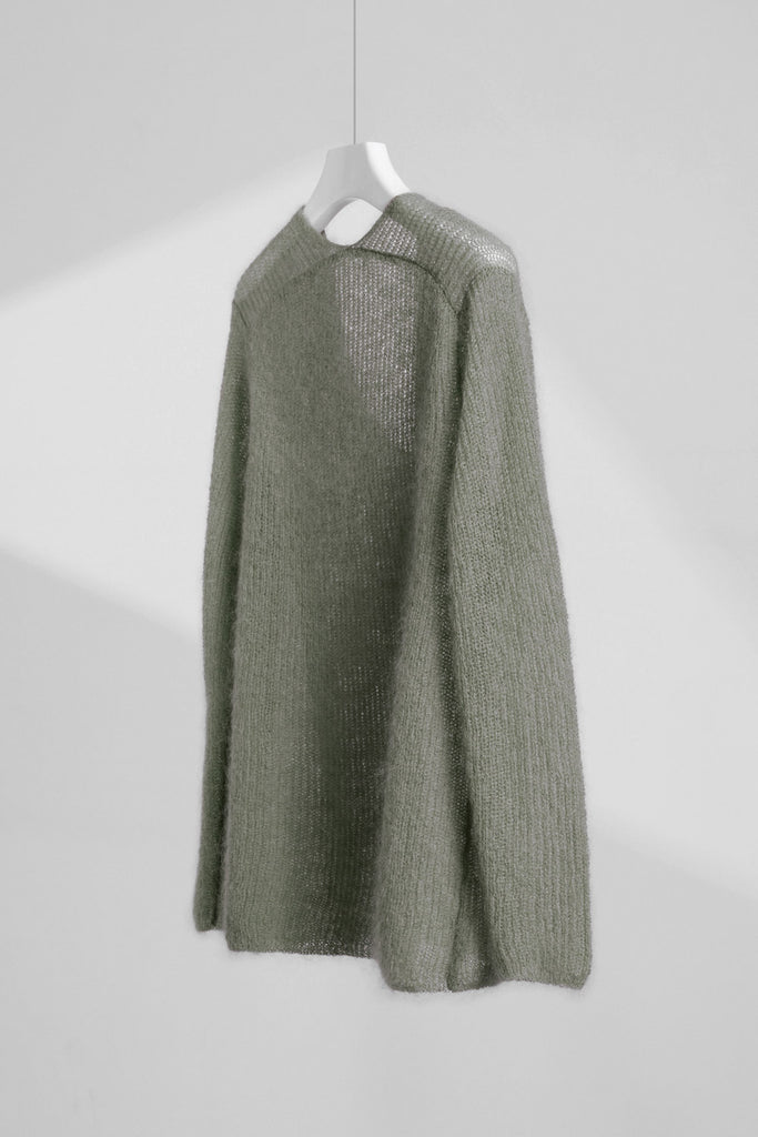 V-Neck Mohair Sweater