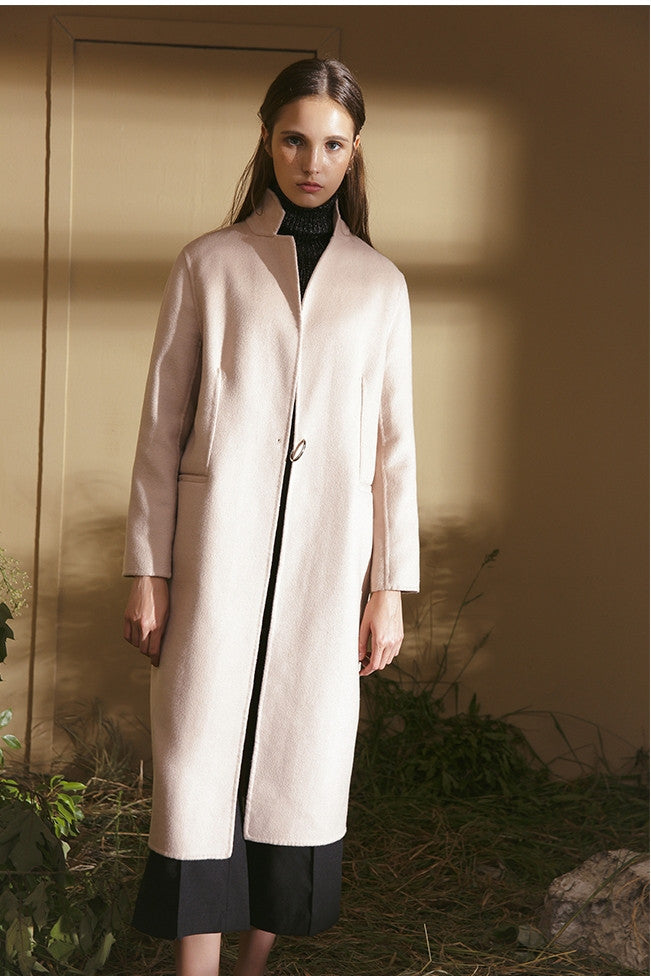 Wool Nylon Blend Coat