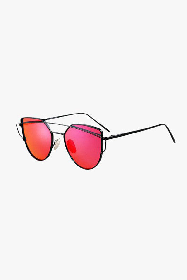 Metal Frame Cat-Eye Sunglasses