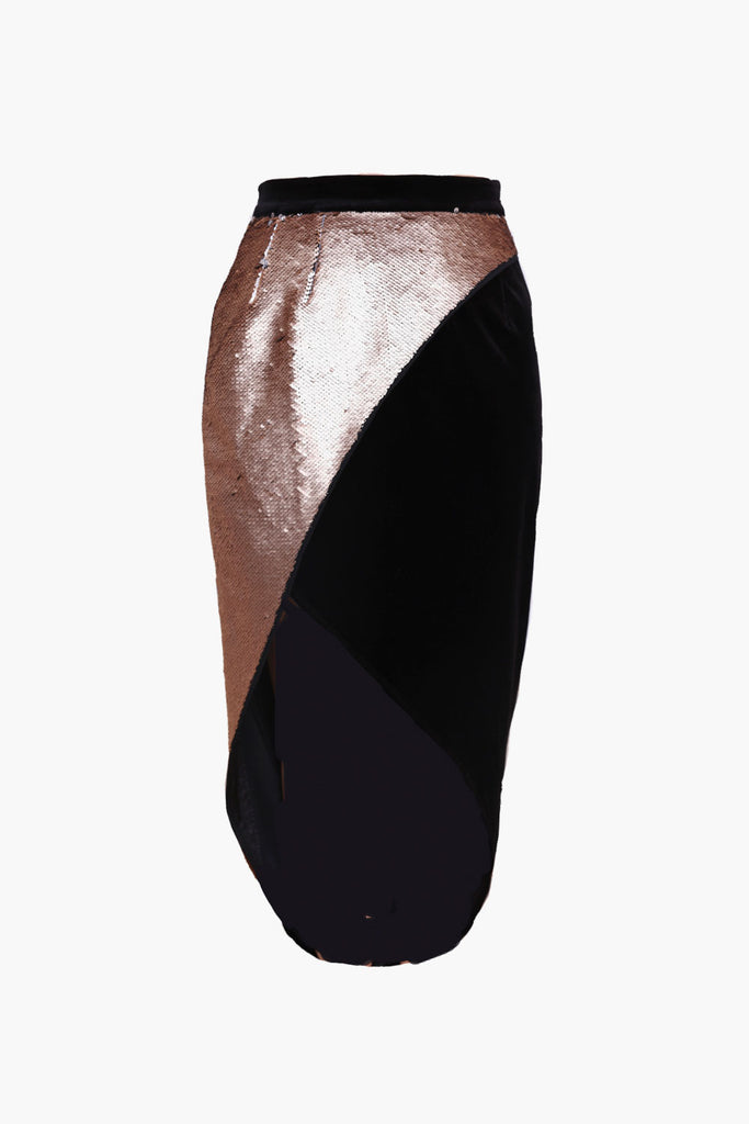Velvet Sequin Skirt