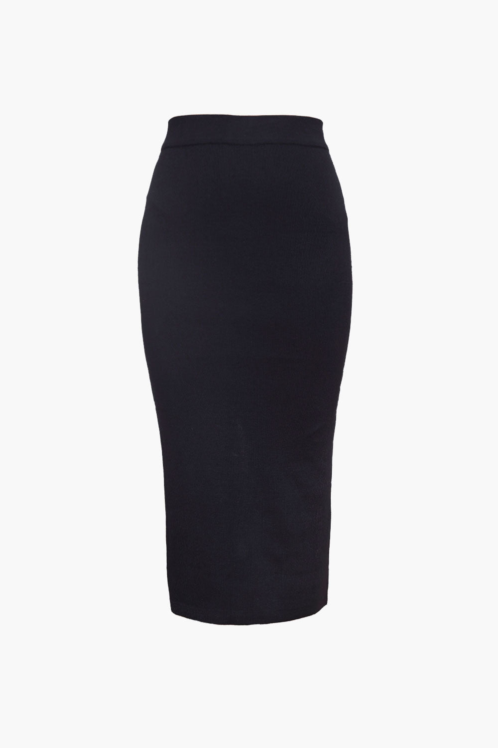 Stretch Knit Pencil Skirt