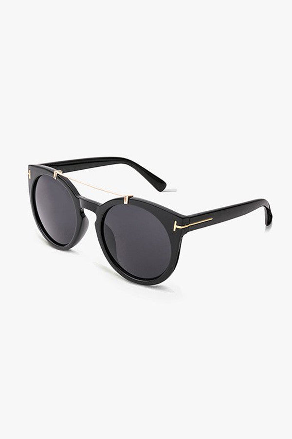 Oversized Mirrored Cat-Eye Sunglasses