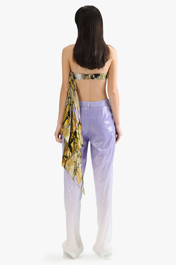 Sheer Gradient Sequin Pants