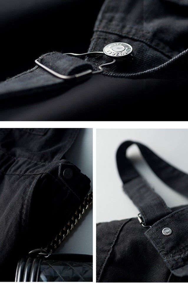 All Black Denim Overall