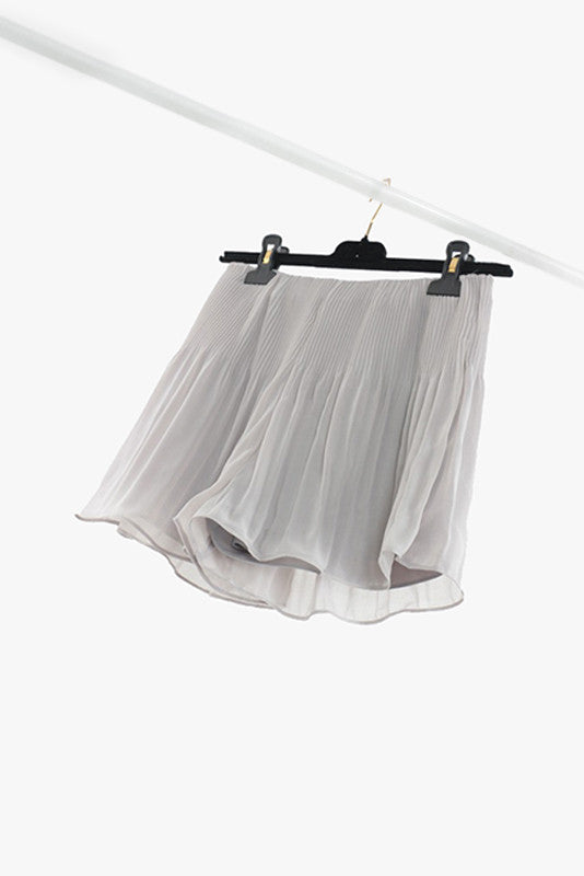 Light Gray Pleated Shorts