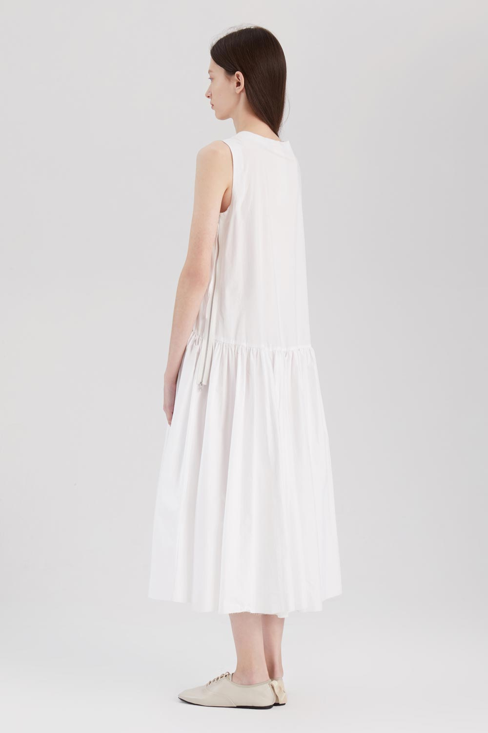 Pleated Cotton Dress