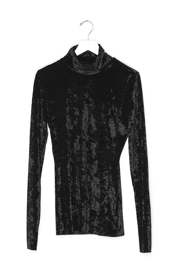 Velvet Collar Slim Shirt