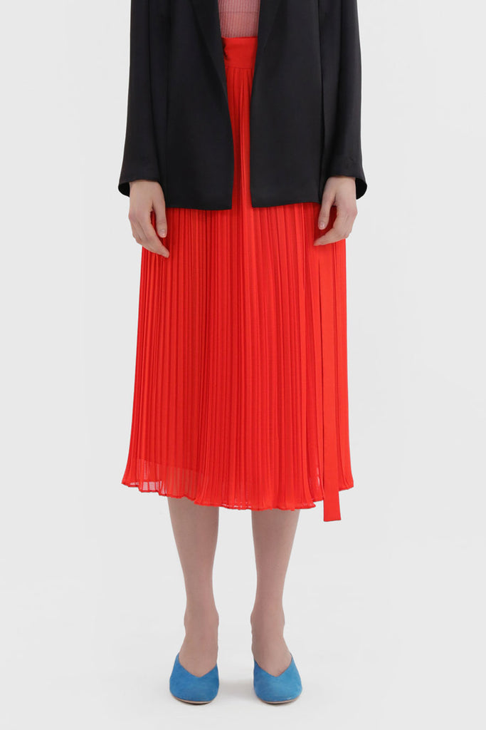 Pleated Chiffon Skirt