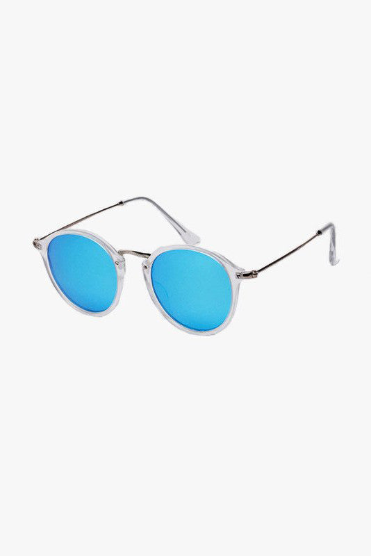 Bright Mirrored Sunglasses In Blue