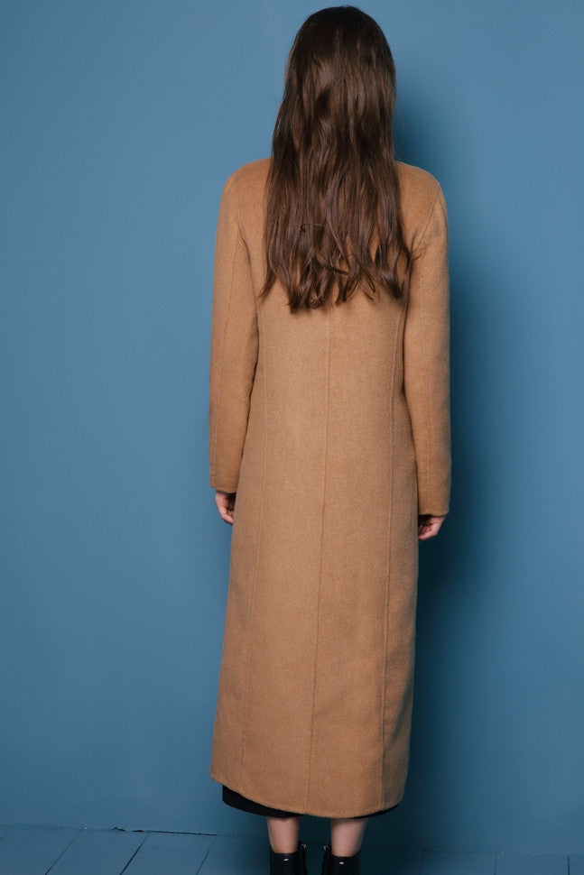 Camel Wool & Cashmere Long Coat