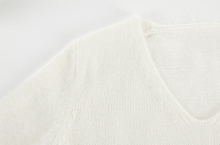 Sleeve V Soft Knit Sweater