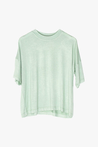 Stretch-Knit Loose Crop Tee
