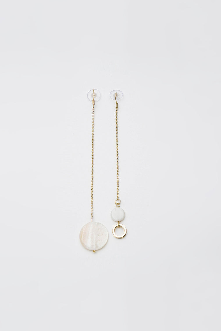 Asymmetrical Shell Drop Earrings