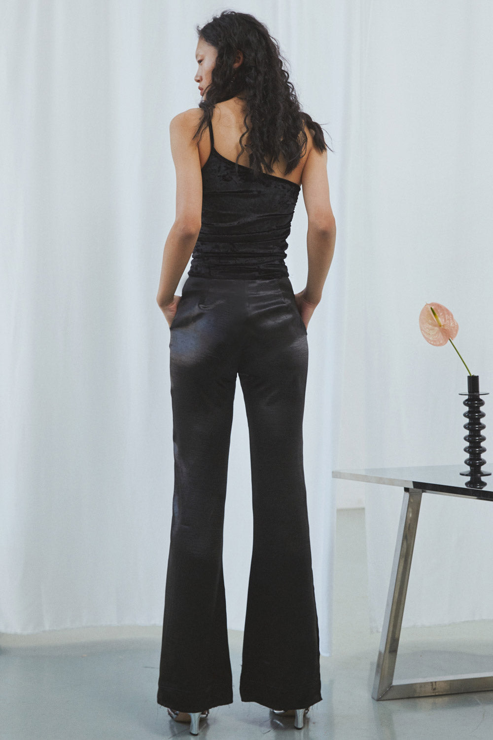 Bell Bottom Satin Pants